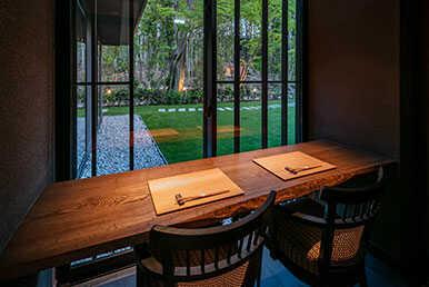 紧邻浮见堂的庭院景观餐厅滴翠 - Tekisui